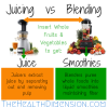juicing vs blending juice vs smoothies